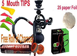 """2 Hose Hookah Neon, Two Styles to Choose from 12"""" Height, Cute Shape Comes with 10.."""