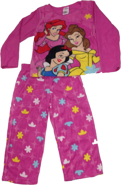 Disney Princess Little Girls' Microfleece Pajamas Set Size 4 Pink