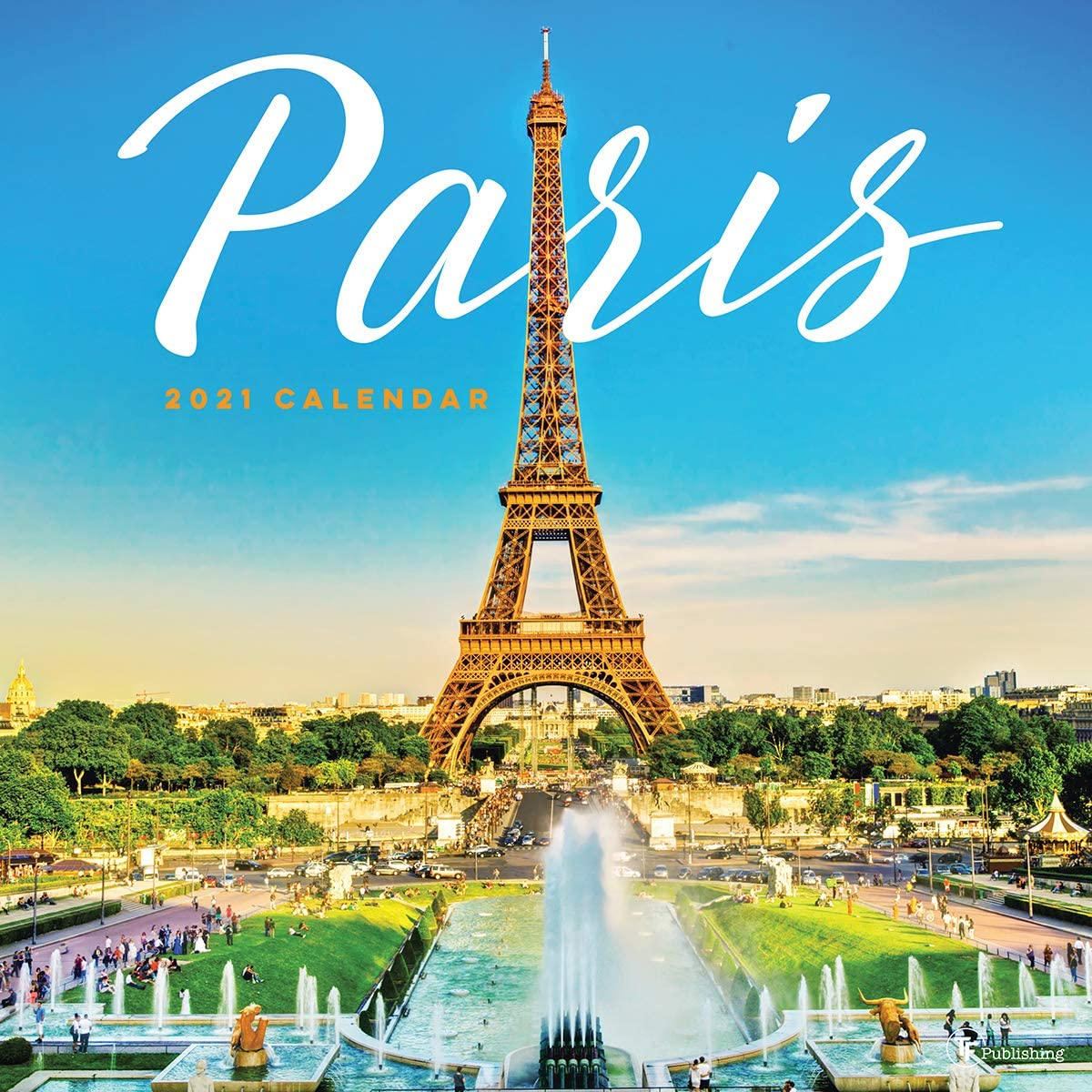 TF PUBLISHING 2021 Paris Monthly Wall All items in the store App At the price Illustrated - Calendar