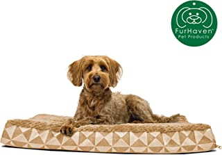 Furhaven Pet Dog Bed | Deluxe Orthopedic Mat Plush Kilim Traditional Foam Mattress Pet Bed w/Removable Cover for Dogs & Cats - Available in Multiple Colors & Sizes