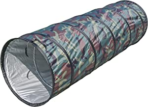 NARMAY Play Tunnel Camouflage Pop Up Tunnel for Kids Indoor / Outdoor Fun - 20.5 Dia. x 60 inch