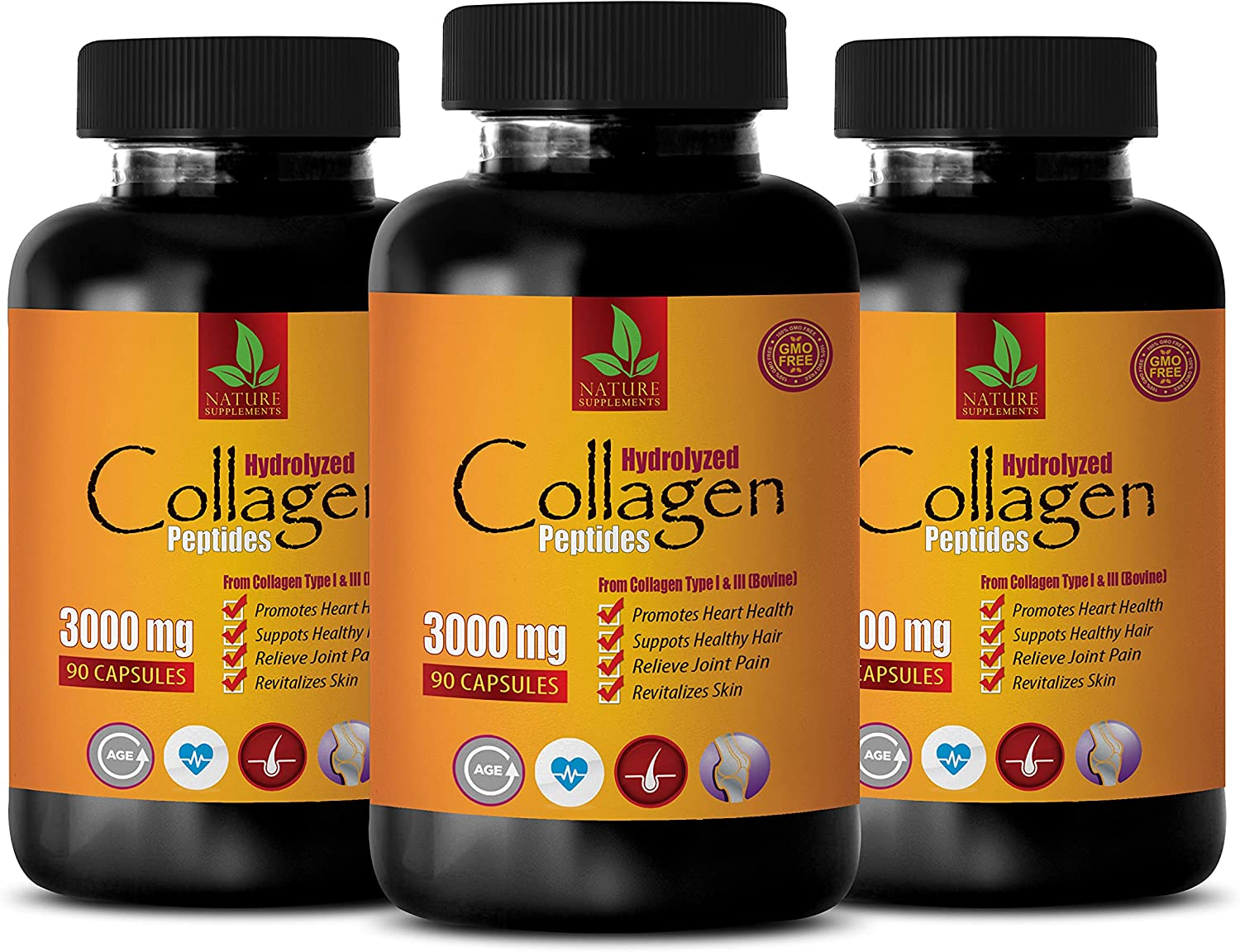 Hair Skin and Nails Vitamins - Our shop Oklahoma City Mall most popular 3000 HYDROLY PEPTIDES Collagen MG