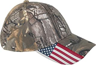 Realtree Xtra Unisex Camo and American Flag Baseball Hat
