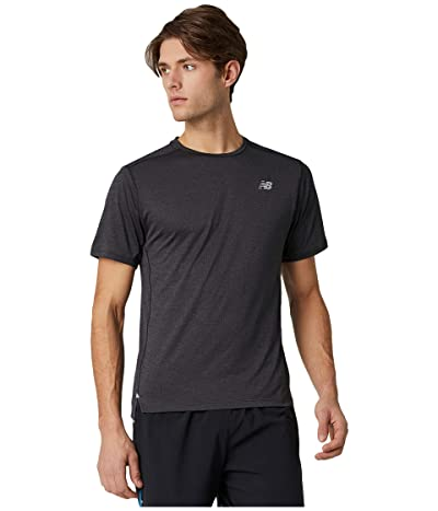 New Balance Impact Run Short Sleeve Tee (Black Heather) Men