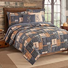 Browning Buckmark Patch Quilt and Sham Set (Full/Queen)