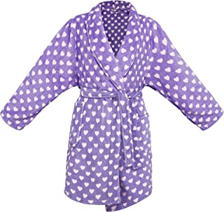 Image of A Popular Pick: Purple with Pink Heart Bath Robe for Girls
