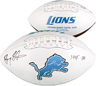 Barry Sanders Detroit Lions Autographed White Panel Football with