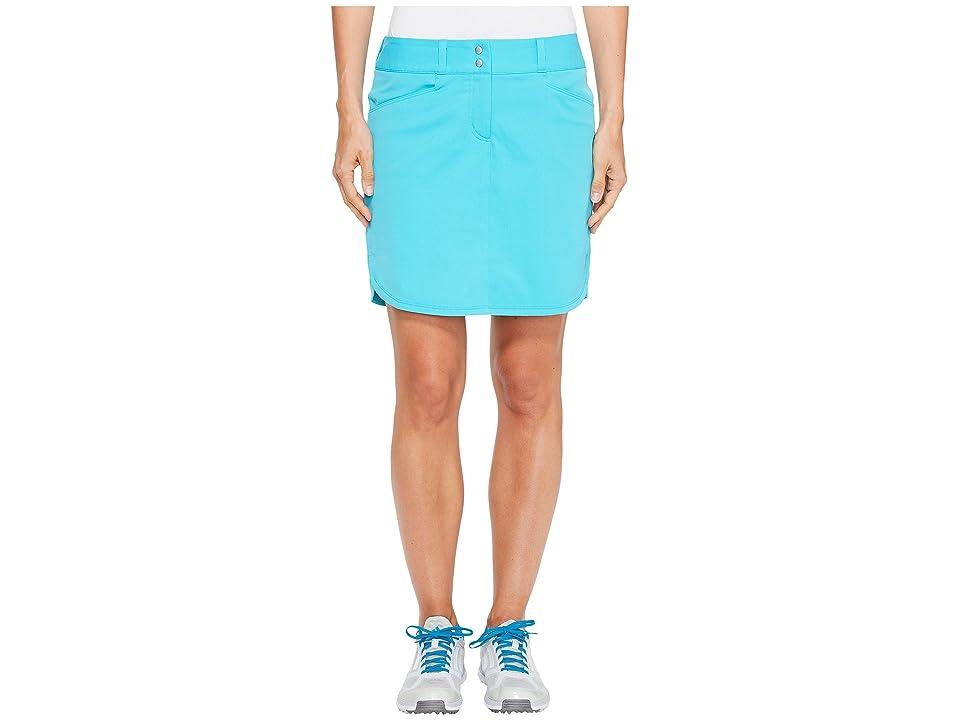 adidas Golf Essentials 3-Stripe Skort (Energy Blue) Women