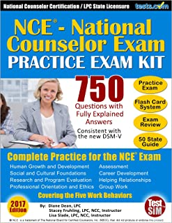 NCE Practice Exam Kit, 750 Questions with Fully Explained Answers: National Counselor Certification Practice, Includes Flash Card Study System