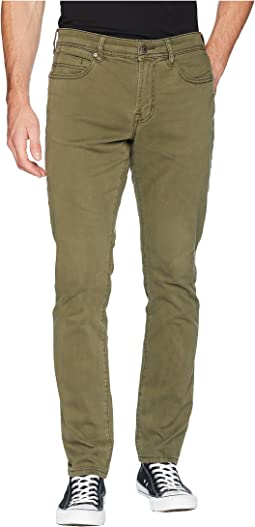 Slim Straight in Comfort Stretch Twill in Olive Night