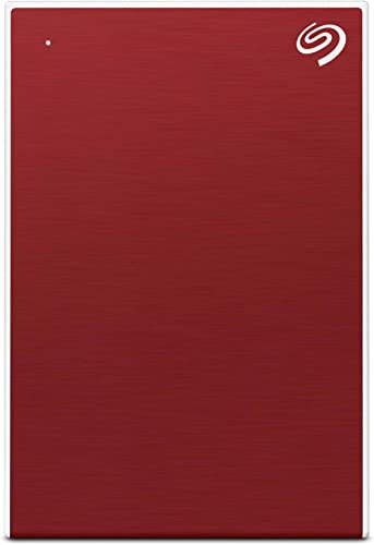 Seagate Backup Plus Slim 2TB External Hard Drive Portable HDD – Red USB 3.0 for PC Laptop and Mac, 1 Year Mylio Crea...