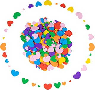 Foam Stickers - 700-Piece Self-Adhesive Foam Shapes, Heart Shape Kids DIY Arts and Crafts Supplies, Multicolored