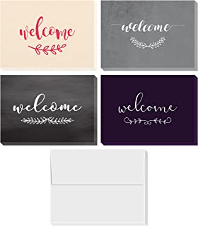 Welcome Cards Box Set | Includes 36 Assorted Greeting Cards and Envelopes - Blank on the Inside - 4x6 Inches