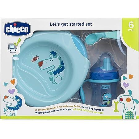 Chicco Set Pappa 6M+, Bimbo, Blu