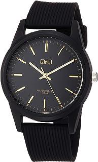 [シチズン Q&Q] 腕時計 アナログ 防水 ウレタンベルト VS40-005 メンズ ブラック ゴールド