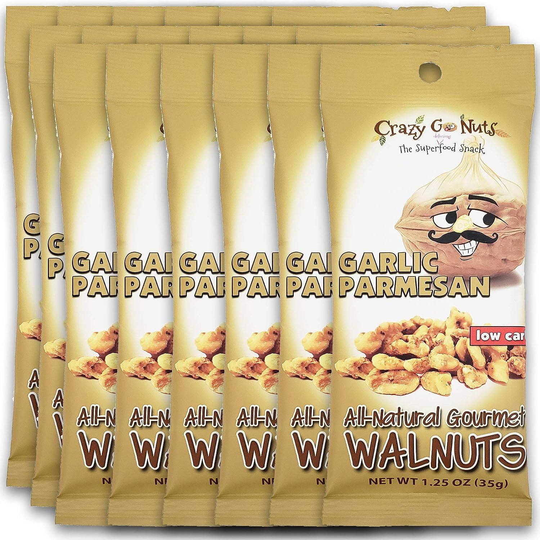 Mail order cheap Crazy Go Nuts Walnuts - Garlic Hea Parmesan oz 1.25 18-Pack favorite