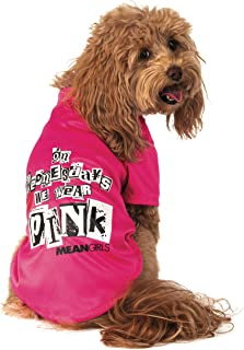 Rubie's Mean Girls Wednesday Wear Pink Pet Costume Tee, X-Small