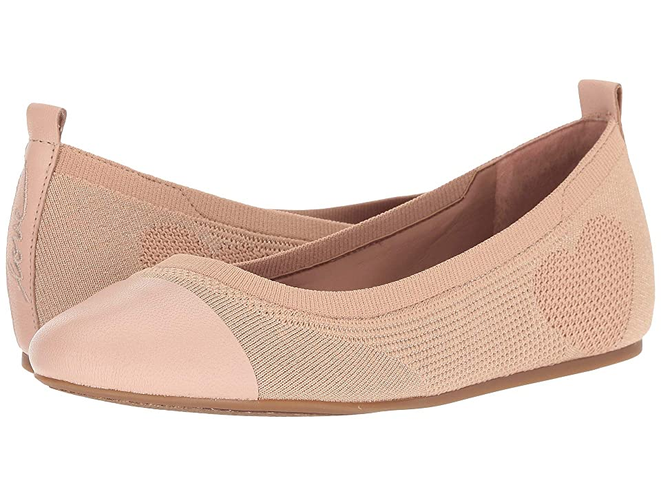 ED Ellen DeGeneres Lilli Knit Flat (Metallic Misty Rose/Pottery) Women