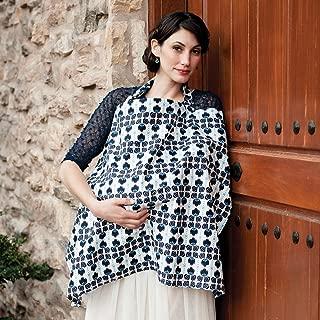 Hooter Hiders Premium Cotton Nursing Cover - Azure