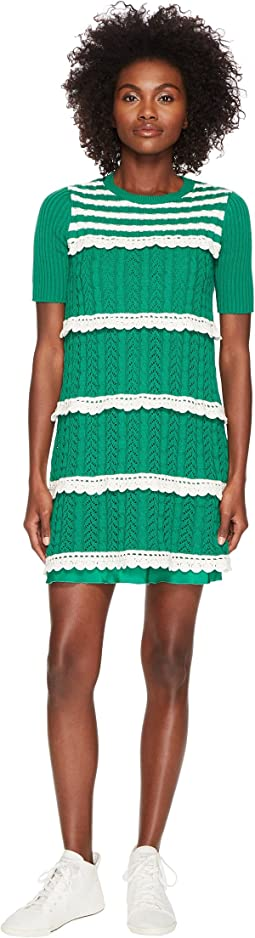 RED VALENTINO - Crochet Knit Dress