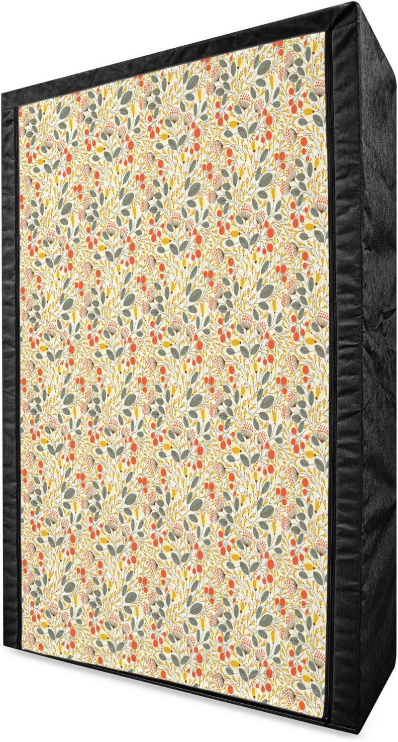 Ambesonne Floral Portable Fabric Wardrobe Flow 70% OFF Outlet Hand Elegant Style Drawn