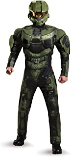 Disguise Men's Halo Deluxe Muscle Master Chief Adult Costume