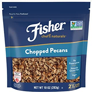 FISHER Chef's Naturals Chopped Pecans, 10 oz, Naturally Gluten Free, No Preservatives, Non-GMO