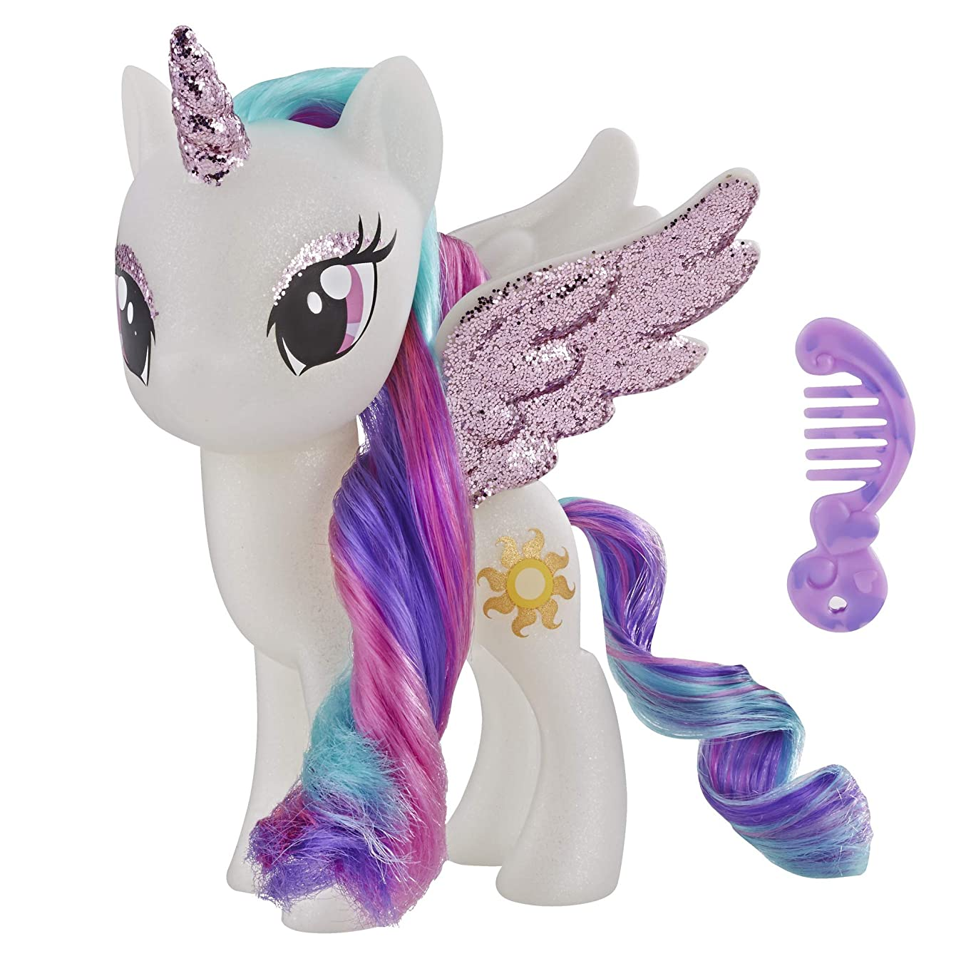 My Little Pony Toy Princess Celestia – Sparkling 6-inch Figure for Kids Ages 3 Years Old and Up