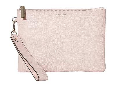 Kate Spade New York Margaux Small Pouch Wristlet (Tutu Pink) Handbags