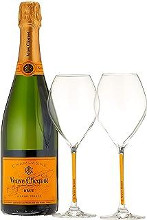 Veuve Clicquot Champagne Brut Yellow Label mit Geschenkverpackung und 2 Gläser 1 x 0.75 l