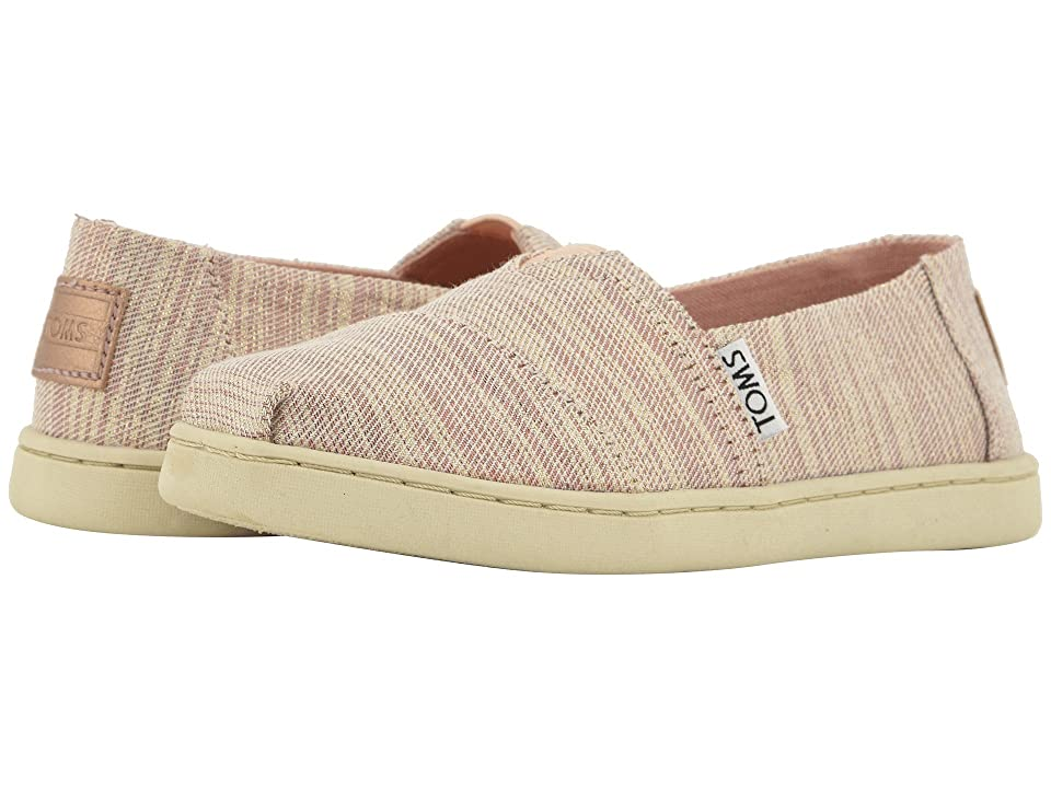 TOMS Kids Alpargata (Little Kid/Big Kid) (Rose Cloud Twill Glimmer) Girl