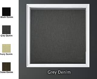 Luxr Blinds Custom-Made Modern Denim 100% Blackout Roller Window Shades Denim Blackout Window Roller Shades Indoor, Outdoor Size 21