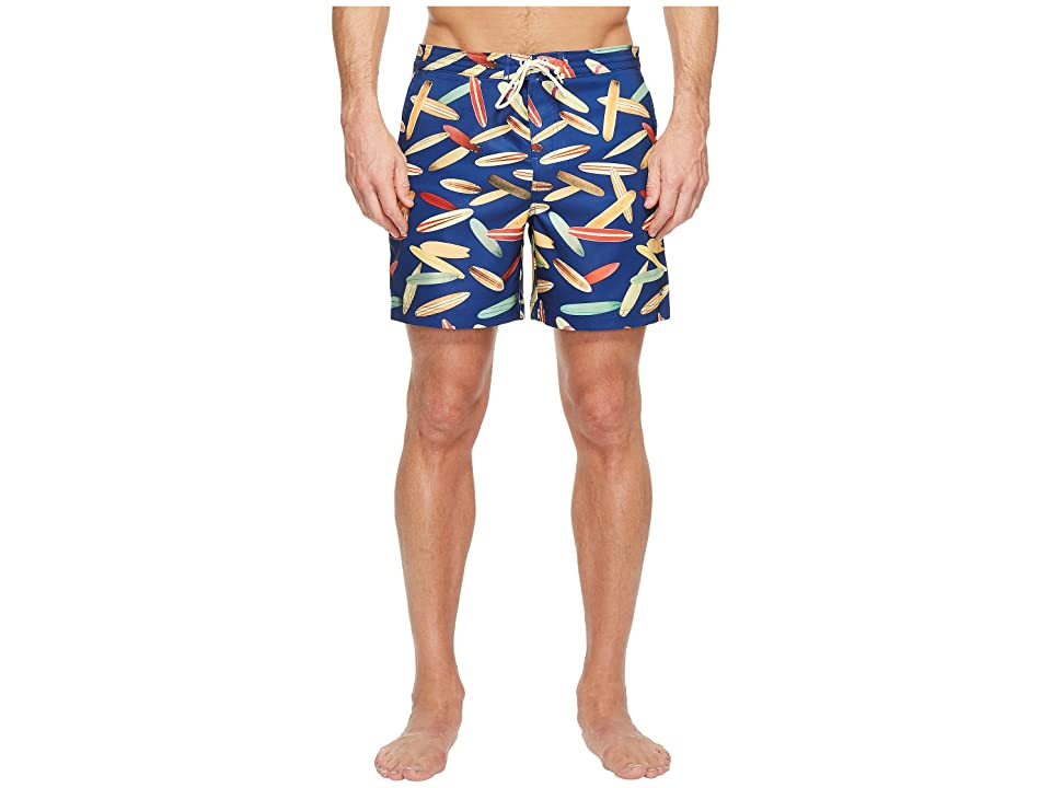 Original Penguin Surfboard Fixed Volley Swim Trunk (Dark Sapphire) Men