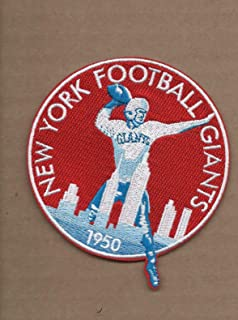 New 3 3/8 X 3 7/8 INCH New York Giants 1950 Retro Iron ON Patch