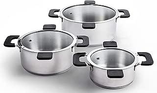 Ozeri ZP16-3P Multi-Size 6-Piece Inductive Pot Set, Stainless Steel
