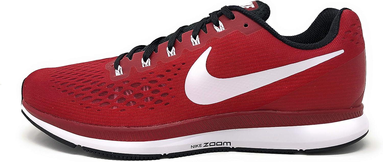 Nike Mens Air Zoom Pegasus 34 TB, Varsity Crimson White-Black, 9 M US