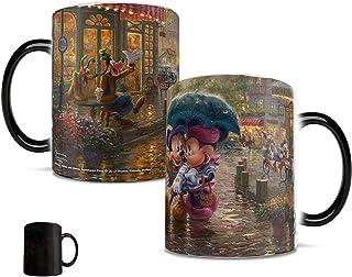 Disney - Mickey and Minnie - Thomas Kinkade - Paris France - Morphing Mugs Heat Sensitive Mug - Ceramic Colour Changing He...