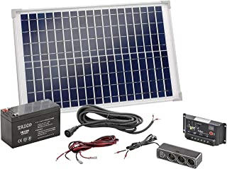 Esotec Solar-Set Poly 120005 20 Wp incl. batería recargable, incl. cable de conexión, incl. Laderegler