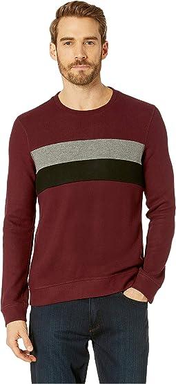 Comfort Knit Sweatshirt Crew Neck Blocking