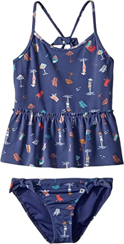 Roxy Kids - Tropicool Sunshine Tankini Set (Toddler/Little Kids)