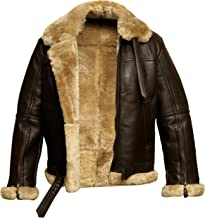 RAF Bomber Ginger Aviator British Sheepskin Shearling Leather Jacket
