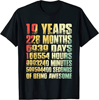 Vintage 2000 19th Birthday 19 Yrs Old Months T Shirt Gift