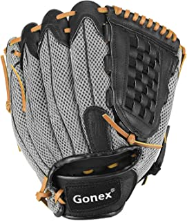 Gonex Baseball Glove for Adult, Fastpitch slowpitch Softball Mitt for Men and Women, 12.5 Inch Outfield Infield Right Hand Throw Glove with Carrying Bag