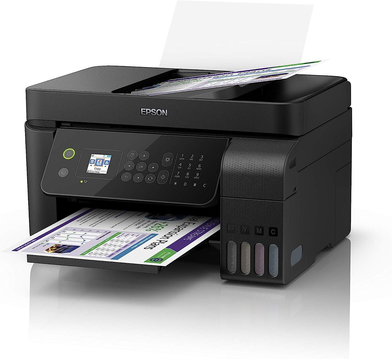 Epson EcoTank ET-4700 Inyección de Tinta 33 ppm 5760 x 1440 dpi A4 WiFi - Impresora multifunción (Inyección de Tinta, 5760 x 1440 dpi, 100 Hojas, A4, Impresión Directa, Negro)
