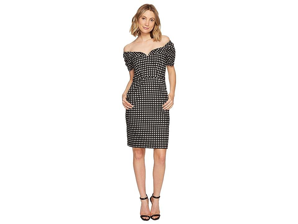 Nanette Lepore Cheeky Check Dress (Black/Ivory) Women