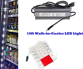 10ft Walk in cooler LED light string strip 5050 with 12v Waterproof Heavy Duty Power Supply