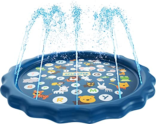 wading pool with fountains