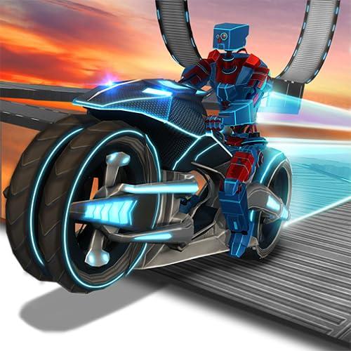 Verkehr Bike Rider Racing & Drift Adventure Simulator Mission: Roboter Bike Stunt Extreme Freestyle Motocross Spiel kostenlos 2018