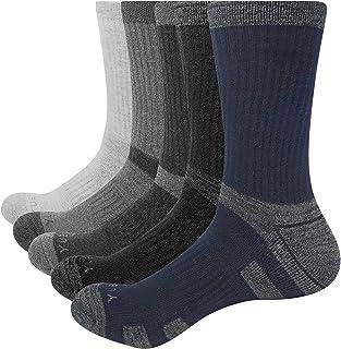 YUEDGE 靴下メンズ 冬 棉厚手クッションクルー登山スポーツ ソックス 防寒暖かいカジュアル靴下5足組