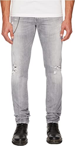 Broken Wash Slim Jeans